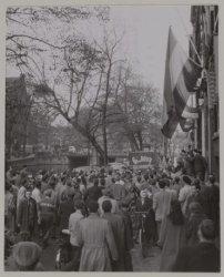 Demonstratie op de Keizersgracht