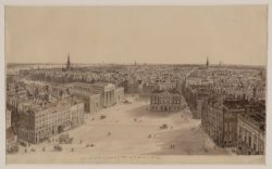 Panorama van Amsterdam in oostelijke richting gezien vanaf het Paleis