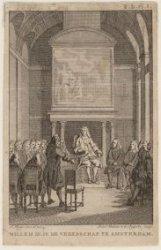 Willem III in de vroedschap te Amsterdam