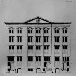 Singel 282-286, bouwtekening vooraanzicht van het huis van burgemeester Anthony …