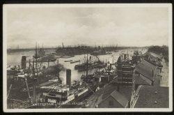 Oostelijke Handelskade met in het midden de IJhaven en Javakade. Links het Afges…