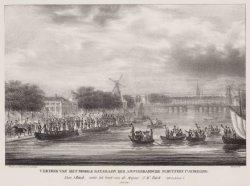 Vertrek van het mobile bataillon der Amsterdamsche schuttery 1te Afdeeling
