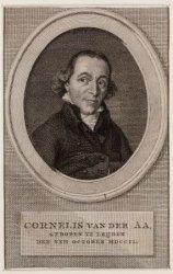 Portret van Cornelis van der Aa (1749-1815), boekhandelaar en uitgever van polit…