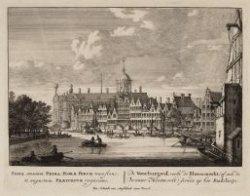 De Voorburgwal; verby de Bloemmerkt (of ook de Deventer Houtmerkt) siende op het…