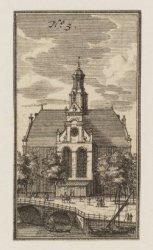 De Noorderkerk. Techniek: ets. Uit: 's Waerelds Koopslot, 1723