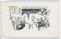 Straattafereel voor Hirsch & Co en Café Hollandais op het Leidseplein