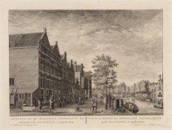 Gezicht van het Maagden-Weeshuys der Roomsch-gezinden, te Amsterdam