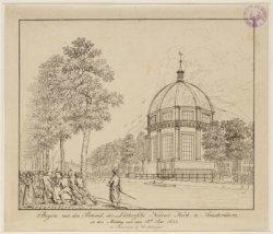 Begin van den Brand, der Luthersche Nieuwe Kerk, te Amsterdam op den Middag van …
