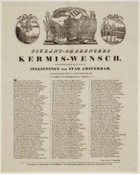 Courant-ombrengers Kermis-wensch, opgedragen aan alle Ingezetenen der Stad Amste…