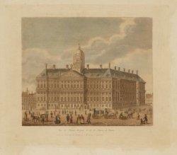 Vue du Palais Roijal, et de la Place le Dam