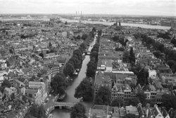 Panorama vanaf de toren van de Westerkerk in noordnoordoostelijke richting