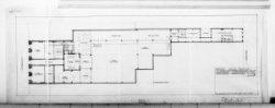 Ontwerptekeningen met aanzichten, plattegronden, doorsneden en silhouet; nr. 5