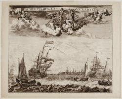 Scheepvaart in het Y, voor Amsterdam