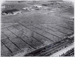 Luchtfoto van de oorspronkelijke Houtrakpolder, gezien naar het noordoosten