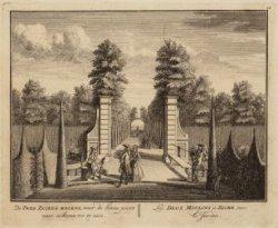 De Twee Zuiker Molens, naer de binne poort naer achteren toe te zien