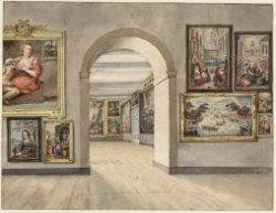 Het interieur van de boven voorzaal van het Trippenhuis, Kloveniersburgwal 29, i…