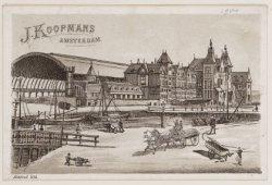 J. Koopmans. Reclameprent voor aardappelhandel J. Koopmans, Prinseneiland 61, me…
