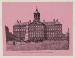 Gezicht op het Koninklijk Paleis te Amsterdam