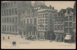 Nieuwezijds Voorburgwal 172-182 met vlnr het Hoofdpostkantoor, restaurant Die Po…