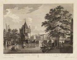 Gezicht van de Schreyershoeks Toren te Amsterdam