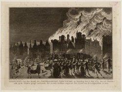 Afbeelding van den Brand des Amsterdamschen Schouwburgs, op Maandag den 11 May 1…