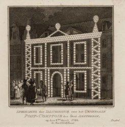 Afbeelding der Illuminatie voor het Generaale Post-Comptoir der Stad Amsterdam, …