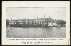 Amstelhof, Amstel 51, de latere Hermitage. Uitgave: B.M. Zuikerberg