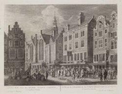 Gezicht van de Oude Zyds Capel, t'' Amsterdam