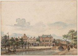 De Deventer Houtmarkt met de Hoogduitse Synagoge