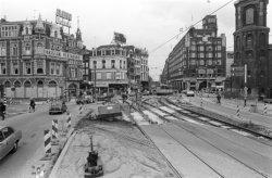 Overzicht over het Muntplein, gezien in zuidelijke richting
