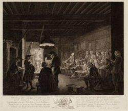 Afbeelding der Teeken Academie, Zoo als Dezelve tot den Jaare 1767 Gehouden werd…