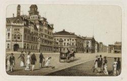 Leidseplein 26, de Stadsschouwburg en links het hotel Amercain