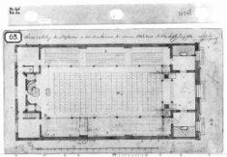 Schets-verdeeling der Zitplaatsen in het Benedenruim der Nieuwe Wale kerk