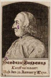 Portret van kunstminnaar Hendrik Busserus (1701-1781)