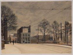 Afbraak hoekhuis Herengracht 496 voor de verbreding van de Vijzelstraat, gezien …