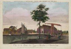 Vue de la Porte des Zaag-Moolens a  Amsterdam / Gezicht na de Zaag-Molens Poort …