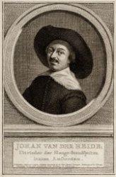 Johan van der Heide, | Uitvinder der Slange-Brandspuiten | binnen Amsterdam