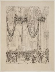 Onthulling van het monument voor Jan Carel Joseph van Speijk in de Nieuwe Kerk. …