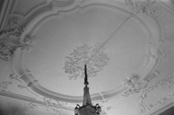 Keizersgracht 135, plafond in de zaal in het achterhuis