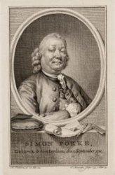 Portret van tekenaar en graveur Simon Fokke (1712-1784)