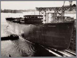 De tewaterlating van het vrachtpassagiersschip ms. Tricolor
