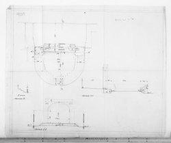 Verbouwing van theater Carré, Amstel 115-125. Opmetingstekening met plattegrond …