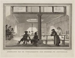 Afbeelding van de Vergaderinge der Kwakers, te Amsterdam