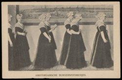 Burgerweesmeisjes in het Burgerweeshuis, Kalverstraat 92
