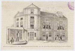 Directiegebouw Rijkspostspaarbank, Stadhouderskade 115. Techniek: houtgravure