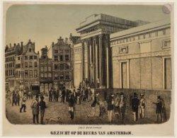 Gezicht op de Beurs van Amsterdam
