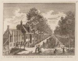 De Lustplaats Buytenrust, aan de Kruyswegh in de Diemermeer van achteren uytkome…
