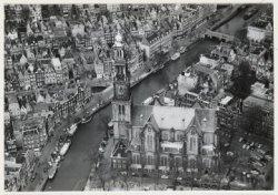 Luchtfoto van de Westermarkt en omgeving gezien in noordelijke richting