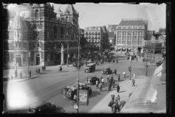 Het Leidseplein gezien in de richting van de Leidsestraat