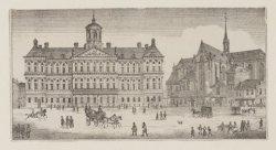 Het Koninklijk Paleis omstreeks 1825
